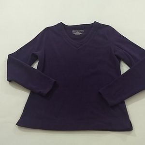 Tek Gear Size S Purple Polarfleece Pullover V Neck